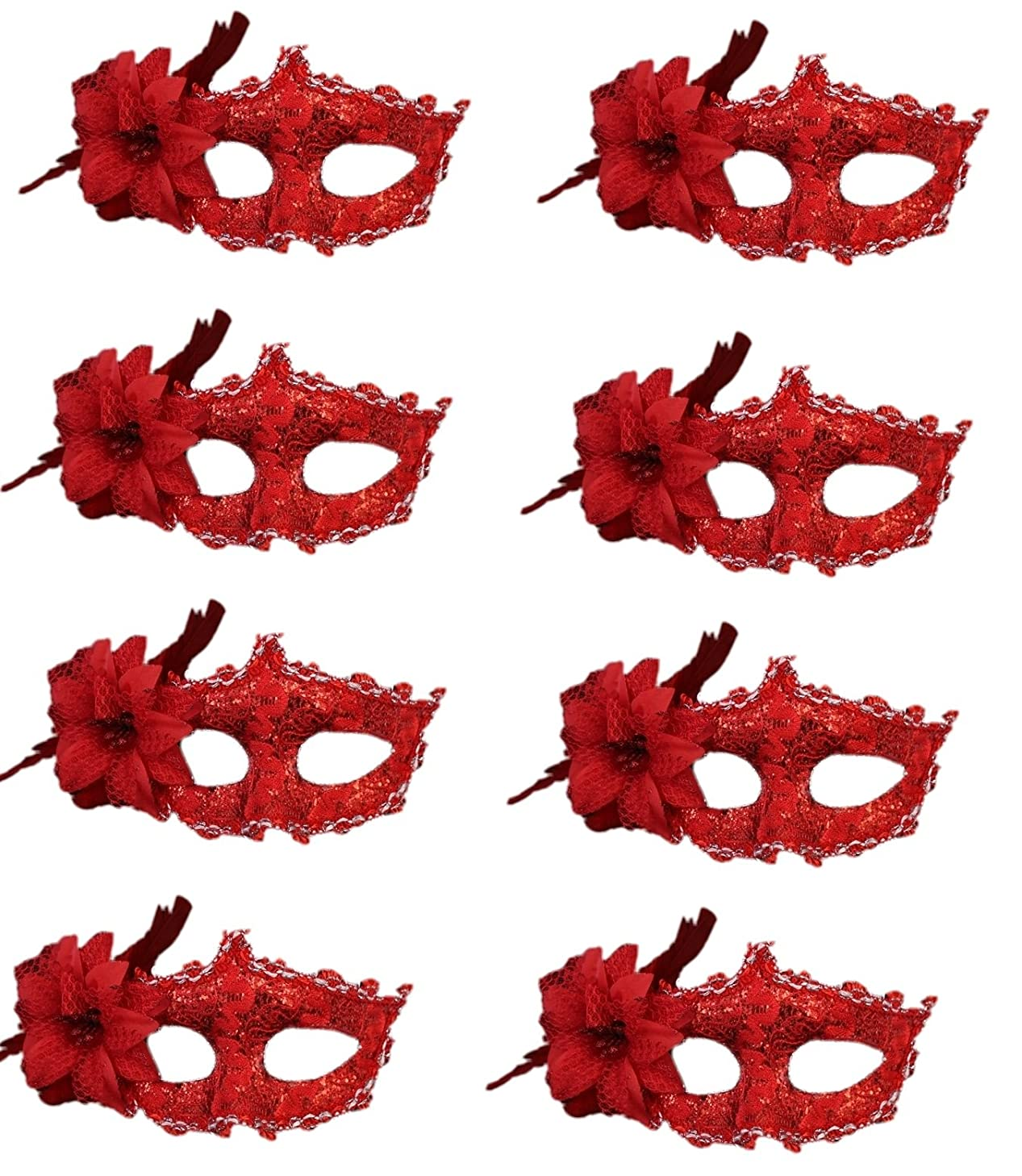 Half Masquerades Venetian Masks Costumes Party Accessory 8PCS