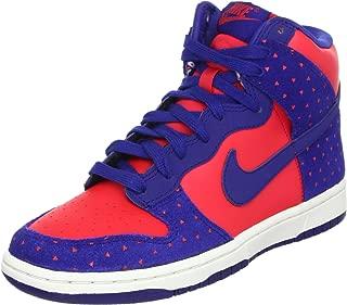 Nike Dunk Hi Women's Skinny Print Sneakers Shoes Red Size 8.5