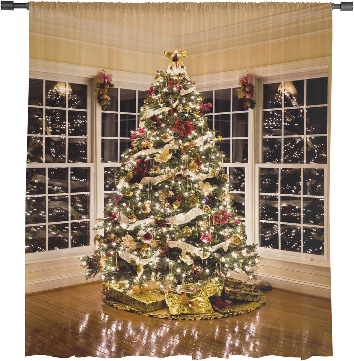 Christmas Window Treatment Bombing new work Louisville-Jefferson County Mall Panel Light Curtain Filtering for Ke
