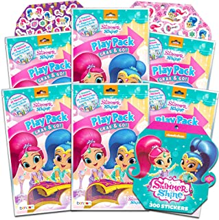 Nickelodeon Shimmer and Shine Party Favors Pack ~ Bundle of 6 Shimmer and Shine Play Packs Filled with Stickers, Coloring Books, and Crayons with Bonus Stickers (Shimmer and Shine Party Supplies)