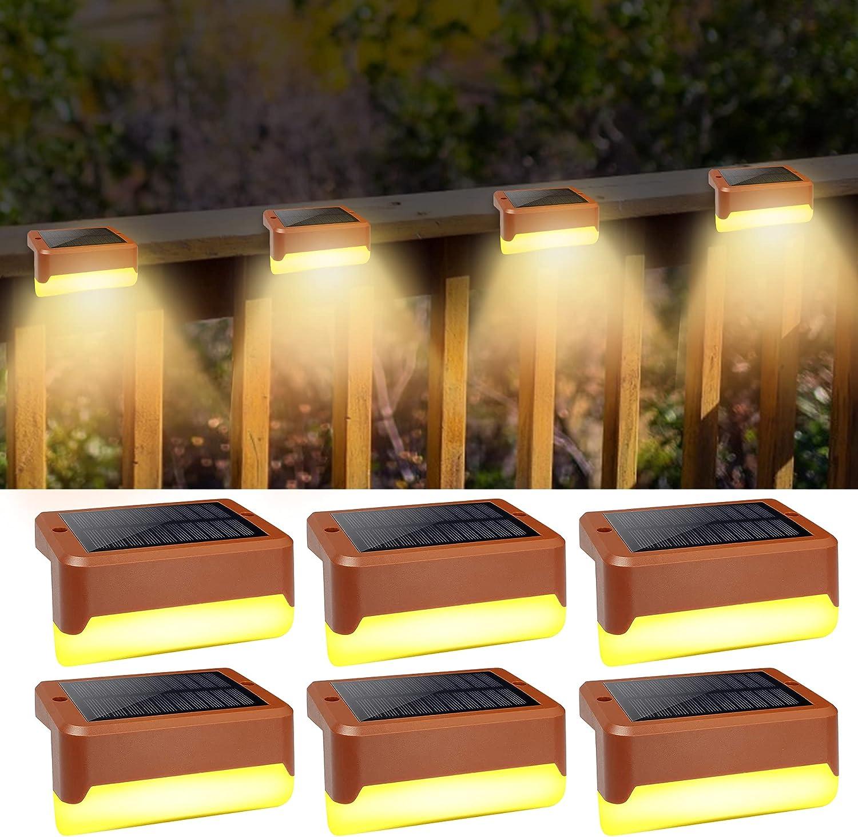 Solar Deck Lights Bombing free shipping Finally resale start Outdoor SMY Lighting 6 Li Step LED Pack