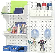 product image for Wall Control Pegboard Hobby Craft Pegboard Organizer Storage Kit with White Pegboard and White Accessories