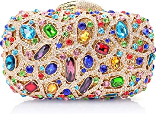Mossmon Luxury Crystal Clutch Rhinestones Evening Bag