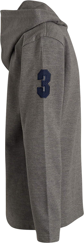 U.S. Polo Assn. Boys' Sweatshirt Set - 3 Piece Lightweight Hoodie and Short Sleeve Shirt Set (Big Boy)