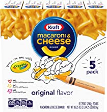Kraft Original Macaroni & Cheese Dinner (7.25 oz Boxes, Pack of 5)