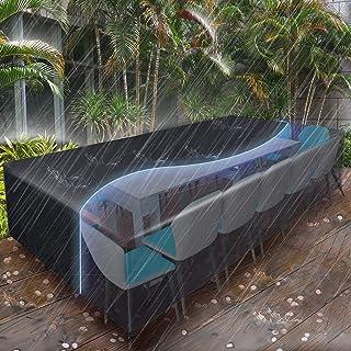Essort Housses de Meubles 315x160x74cm, Housse Salon de Jardin pour 10-12 Sièges Imperméable, Housse de Protection Meubles...