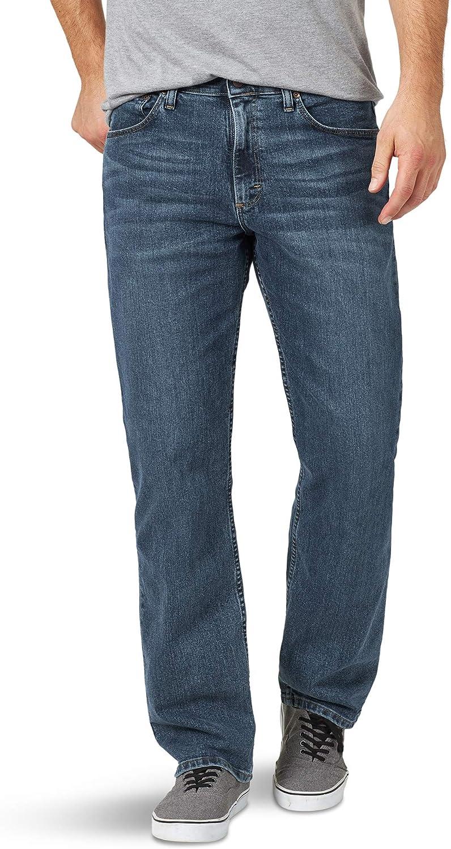 Wrangler Authentics Men's Relaxed Fit Comfort Flex Jean at  Men's Clothing store