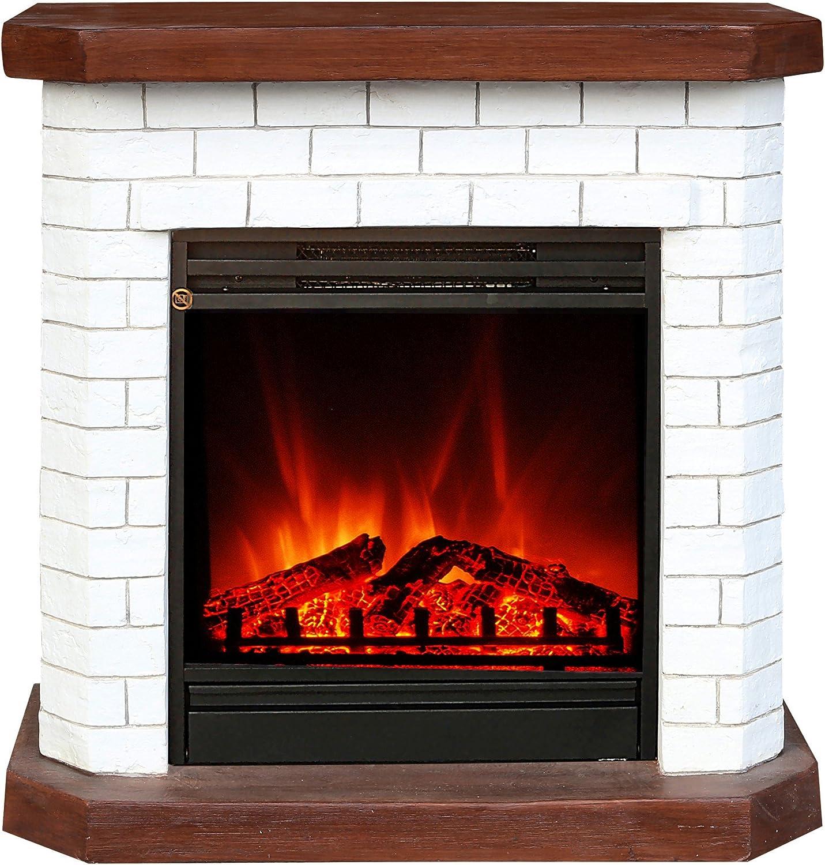 El Fuego Kiel wei Elektrokamin mit tuschend echtem Flammeneffekt, 1600 W, 230 V