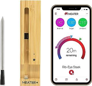 MEATER Plus | Termometro Bluetooth Fino a 50 Metri a Sonda Senza Fili Per Forno, Grigliate, Barbecue. App in Italiano Comp...