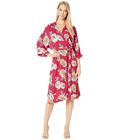 Roxy Privy Places Kimono Wrap Dress (Deep Claret Sept) Women