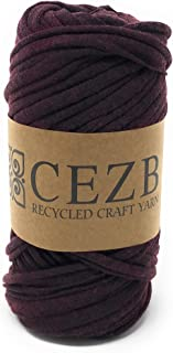 T-Shirt Yarn Bulky Fettuccini Zpagetti Style Elastic Strong Cloth T Shirt Trapillo Yarn Ball for Knitting Sewing Crocheting Bags Bowls DIY Handicraft and Home décor Projects -Small Size - Yarn#576