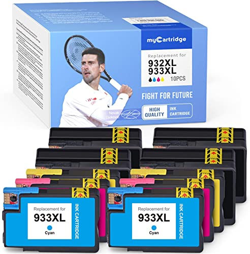 2021 MYCARTRIDGE Compatible Ink Cartridge Replacement online sale for HP 932XL 933XL Work for Officejet6100 6600 6700 7110 7610 7612 (10-Pack, 4 Black 2 Yellow 2021 2 Cyan 2 Magenta) outlet online sale
