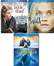 Incredible Stories Triple Feature Book Thief & Wild Reese Witherspoon Blu Ray Drama & Big Miracle Sure Story Movie Set Bundle