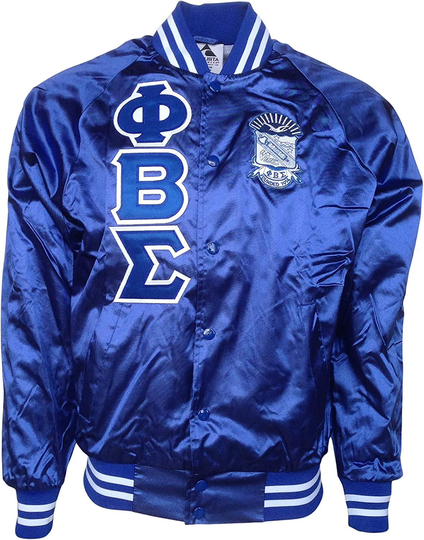 Mega Greek Phi Beta Sigma Satin Bombers Jacket