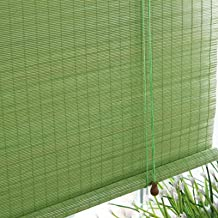 Rolgordijn bamboegordijnen, ringtopgordijn, Romeinse schaduwschaduw, lichtgewicht en duurzaam, ondersteuning maatwerk, zon...