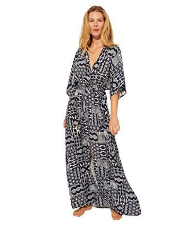 Bleu Rod Beattie Island Time Long Rayon Dress Cover-Up (Navy Multi) Women