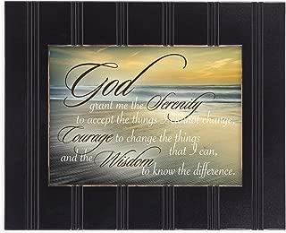 Serenity Prayer Ocean Waves 8x10 Black Framed Art Wall Plaque Sign
