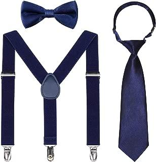 ring bearer suspenders and tie