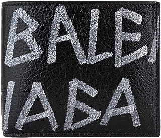 [バレンシアガ]BALENCIAGA 二つ折り財布 510476 0EE12 COIN WALLET ARENA GRAFFITI メンズ 1080 BLACK WHITE [並行輸入品]