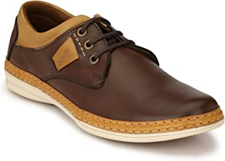 Levanse Brown Casual Sneakers Leather Shoes for Men