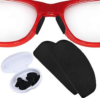 پد های بینی ضد لغزش Setex Gecko Grip برای عینک ، ساخت الیاف میکرو ساختاری ایالات متحده ، گرفتن فوق العاده قوی و فوق العاده نرم ، 5 جفت سیاه با چسب خود استیک ، 1 میلی متر x 7 میلی متر x 16 میلی متر