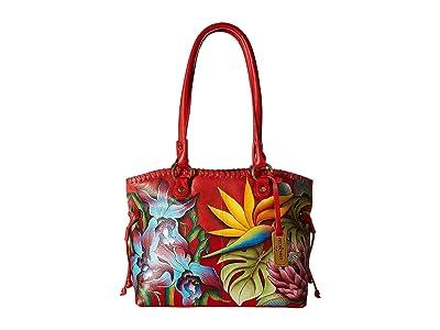 Anuschka Handbags 569 Large Drawstring Shopper (Island Escape) Handbags