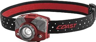COAST FL75R Rechargeable 530 Lumen Dual Color Focusing LED Headlamp, Red
