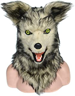 Grey Wolf Costume Mouth Mover Mask