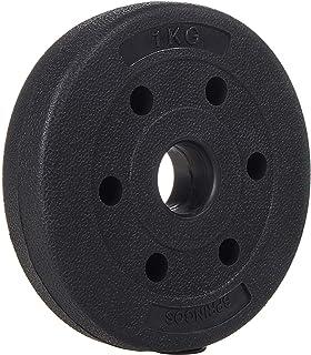 comprar comparacion SPRINGOS - Discos para pesas (1 kg, 1,25 kg, 2,5 kg, 5 kg, 10 kg, 15 kg, 20 kg, de plástico, con peso) para acondicionamie...
