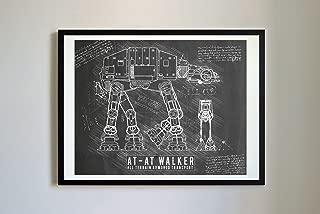 DolanPaperCo 116 StarWars AT-AT Art Print, da Vinci Sketch – Unframed – Multiple Size/Color Options (8x10, Blackboard)