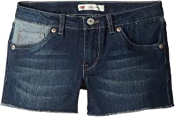 Altered Denim Shorty Shorts (Big Kids)