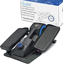 Cubii Jr. - Seated Under-Desk Elliptical - Get Fit While You Sit - Built-in Display Monitor - Whisper-Quiet - Adjustable Resistance - Easy to Assemble