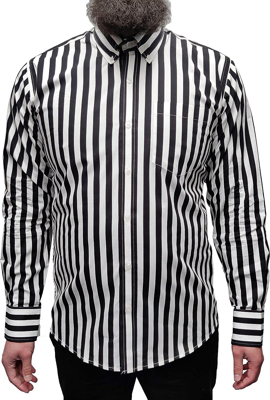 Relco London Men's Longsleeve Button Down Cotton Shirt