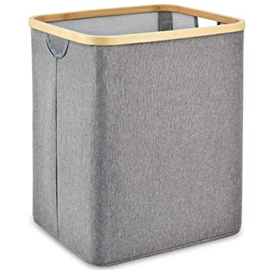 ZESTILK Laundry Basket with Dual Built in Handles, Collapsible Linen Laundry Hamper for Bathroom, Bedroom, Home, Toys and Clothing Organization