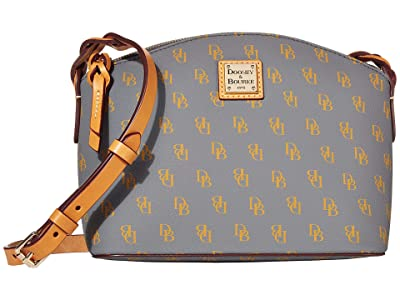 Dooney & Bourke Blakely Penny Crossbody (Slate/Butterscotch Trim) Cross Body Handbags