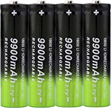 4x 18650 Battery Li-ion 3.7 V 9900mAh Rechargeable Batteries For Flashlight Headlamp Batteries