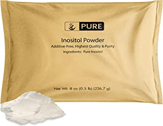 Inositol (Vitamin B8) Powder (8oz, ¼TSP per Serving) by Pure Ingredients, Non-GMO, Gluten-Free, Lab-Tested ...