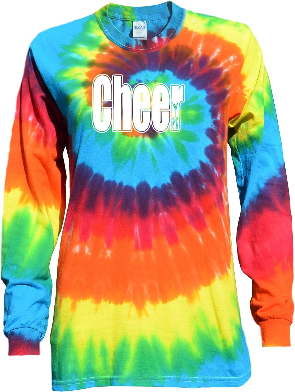 JANT girl Cheer Tulsa Mall Rainbow Tie Long Sleeve Dye Dedication T-Shirt Logo