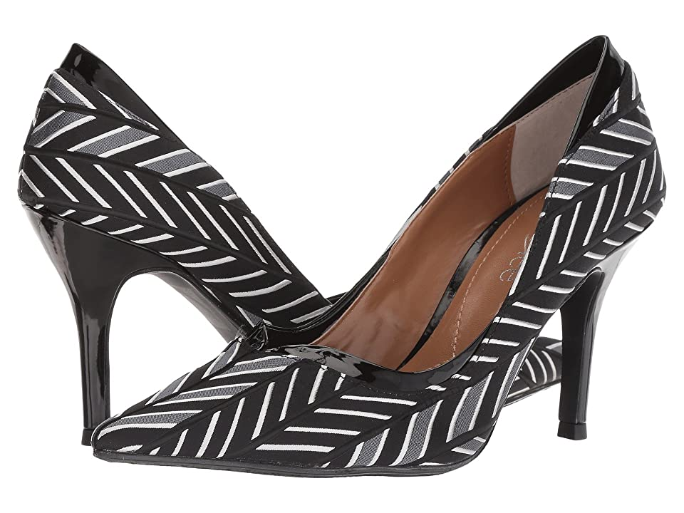 J. Renee Alainn (Black/Gray/White) High Heels