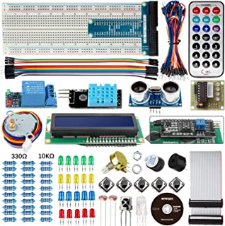 Smraza Basic Starter Kit for Arduino UNO R3 Project with Tutorial, Breadboard, Jumper Wires, Resistors, LED, LCD 1602, Sensors