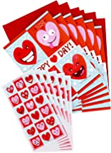 Hallmark Pack of Valentines Day Cards for Kids with Stickers (6 Valentine Cards with Envelopes, 6 Heart Emoticon Sticker Sheets)
