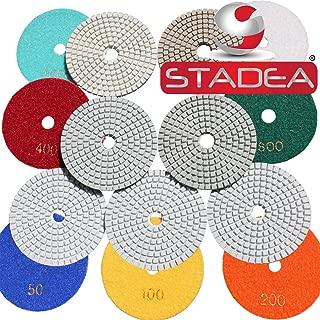 diamond polishing sanding grinding pads discs- For Granite Concrete Stone Marble Polishing 10 Pcs Grit 50 By STADEA