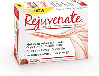 Element Nutrition, Rejuvenate, Essential Amino Acid Blend, Clinically Proven Muscle Health Supplement for Age 40 Plus, 165 Gram (Raspberry, 30 Servings)