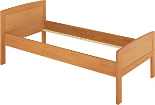 Erst-Holz Lit Simple hêtre Naturel 120x200 lit Classique et élégant, Structure de lit sans literie 60.72-12oR