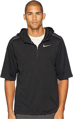 Pacer Short Sleeve 1/2 Zip Hoodie