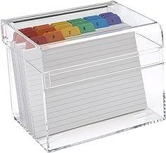 Osco AIBOX-R - Caja de índices y 100 tarjetas, 6 x 4 pulgadas