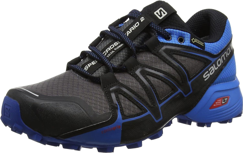 Salomon 2018 Men's Speedcross Vario 2 GTX Running shoes - Magnet Indigo Bunting Black - L39971500