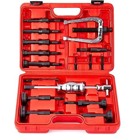 Kit de Extractor de Rodamientos y Sellos para Rodamientos de Ciegas, Martillo Deslizante, Inserto Interior para Rodamientos Internos (16 Piezas)