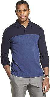 Van Heusen Men's Flex Long Sleeve Jaspe Colorblock Polo Shirt