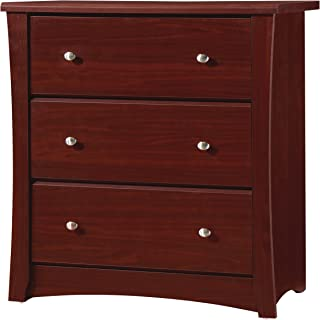 Storkcraft Crescent 3 Drawer Chest, Cherry, Kids Bedroom Dresser with 3 Drawers, Wood & Composite Construction, Ideal for Nursery, Toddlers Room, Kids Room